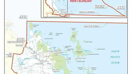 The proposed changes to the Whitsunday electorate.