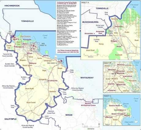 The current Burdekin electorate boundaries.