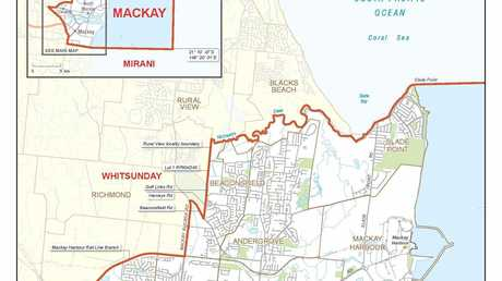 The proposed Mackay electorate.