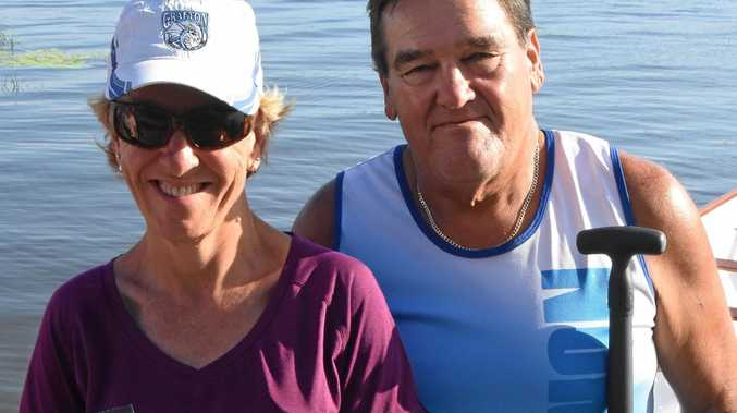 REGATTA READY: Grafton Dragon Boat Club members Tracey Starr and Tom McKenna will head to the NSW state championships this weekend.
