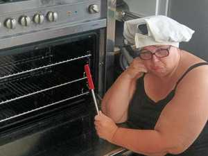 "Baker woman asks for help after her oven ""went boom"""