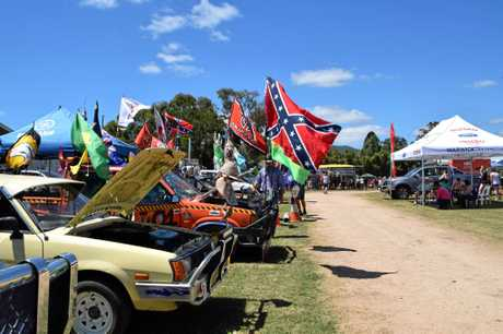 UTE MUSTER: The Killarney Show welcomed back the car category this year.