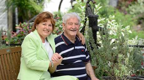 MINING FAMILY: Bundamba Jo-Ann Miller MP with her father and former coal miner George Pringle.