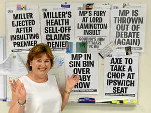 HITS AND MEMORIES: Bundamba MP Jo-Ann Miller MP with some of her favourite QT posters.