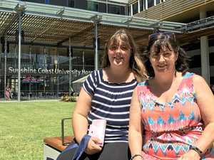 Dannielle (left) and Tracey Stewart were among close to 2000 people who toured the Sunshine Coast University Hospital today, February 25, ahead of its opening next month.