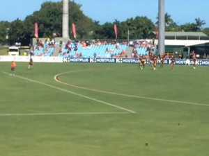 Mackay fans welcome Essendon to the ground