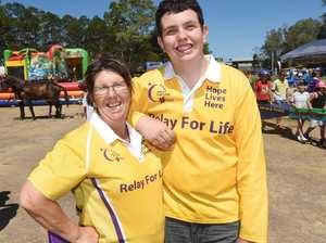 Relay for Life Family Fun Day, Seafront Oval, Hervey Bay - Organisers Kay Nixon and Luke Strochnetter.