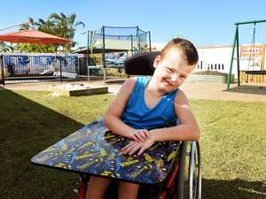 Boy with cerebral palsy overjoyed with new backyard