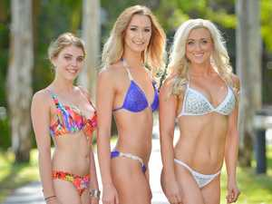 Riley Callow, Roche Bailey and Whitney Freyling are getting ready for the MAXIM model search coming to Tannum Sands.