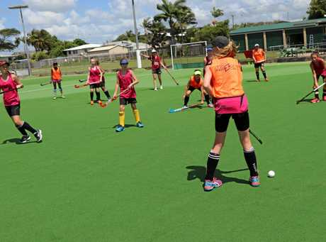 Mackay Hockey players at their development camp at the weekend.