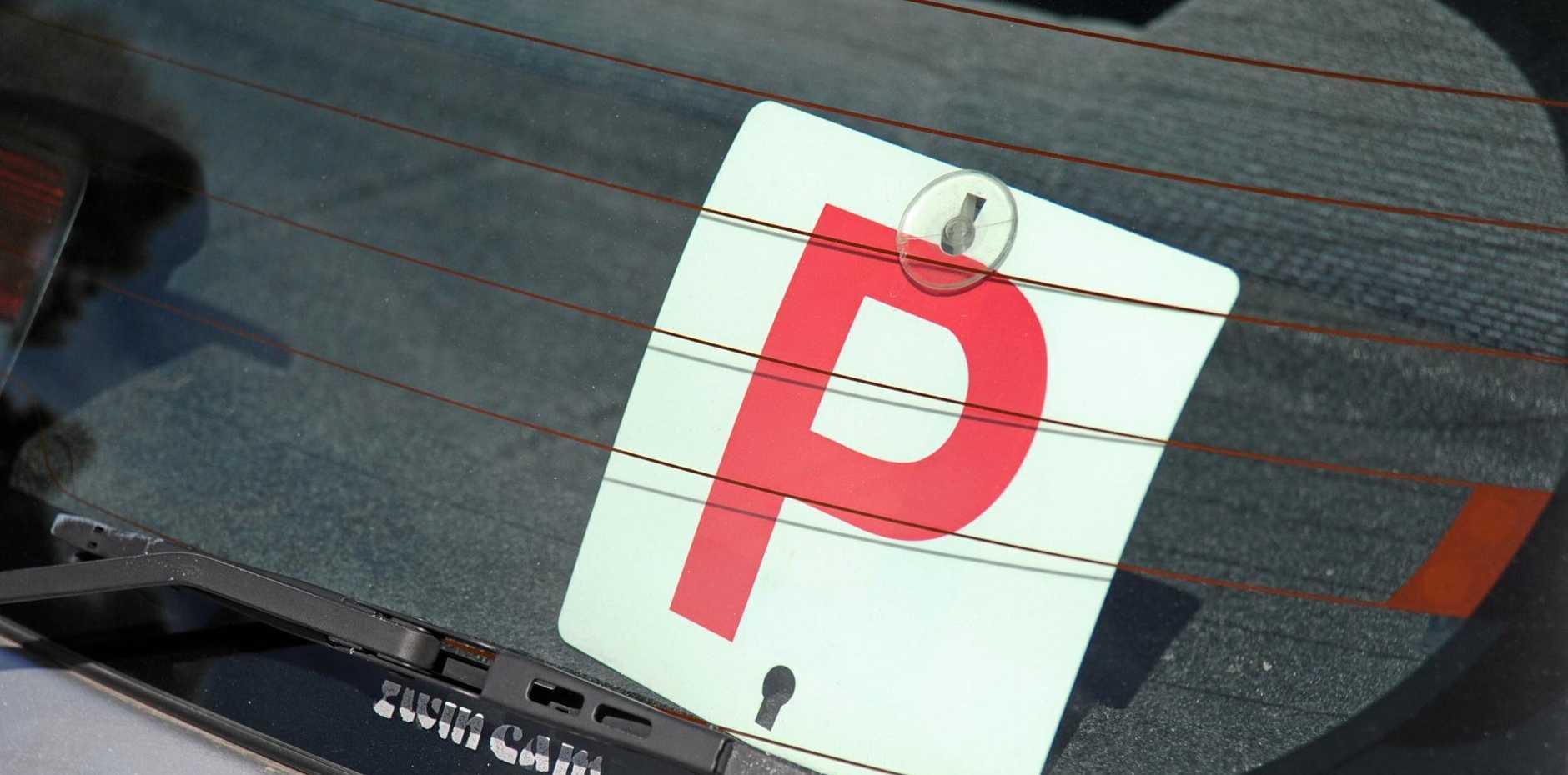 P platein rear window Photo: Alistair Brightman / Fraser Coast Chronicle