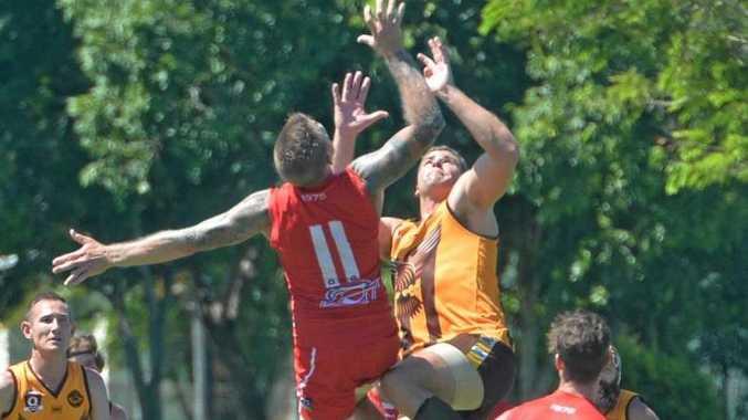 Yeppoon Swans thrashed Mackay City Hawks in their curtain raiser game to the AFL pre-season clash.