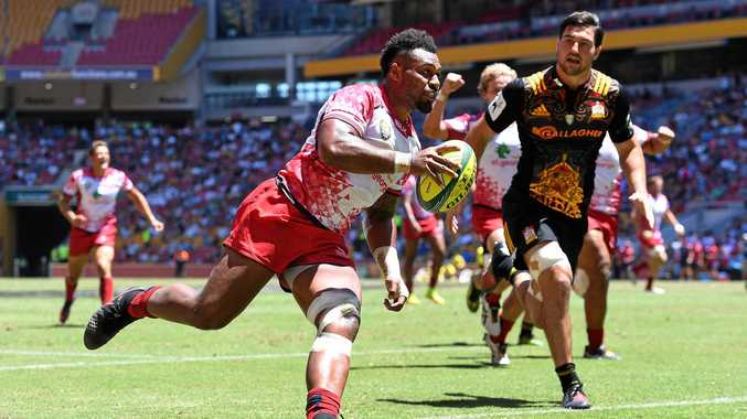 BIGGER, STRONGER: Reds centre Samu Kerevi is benefiting from Brad Thorn's brutal gym sessions.