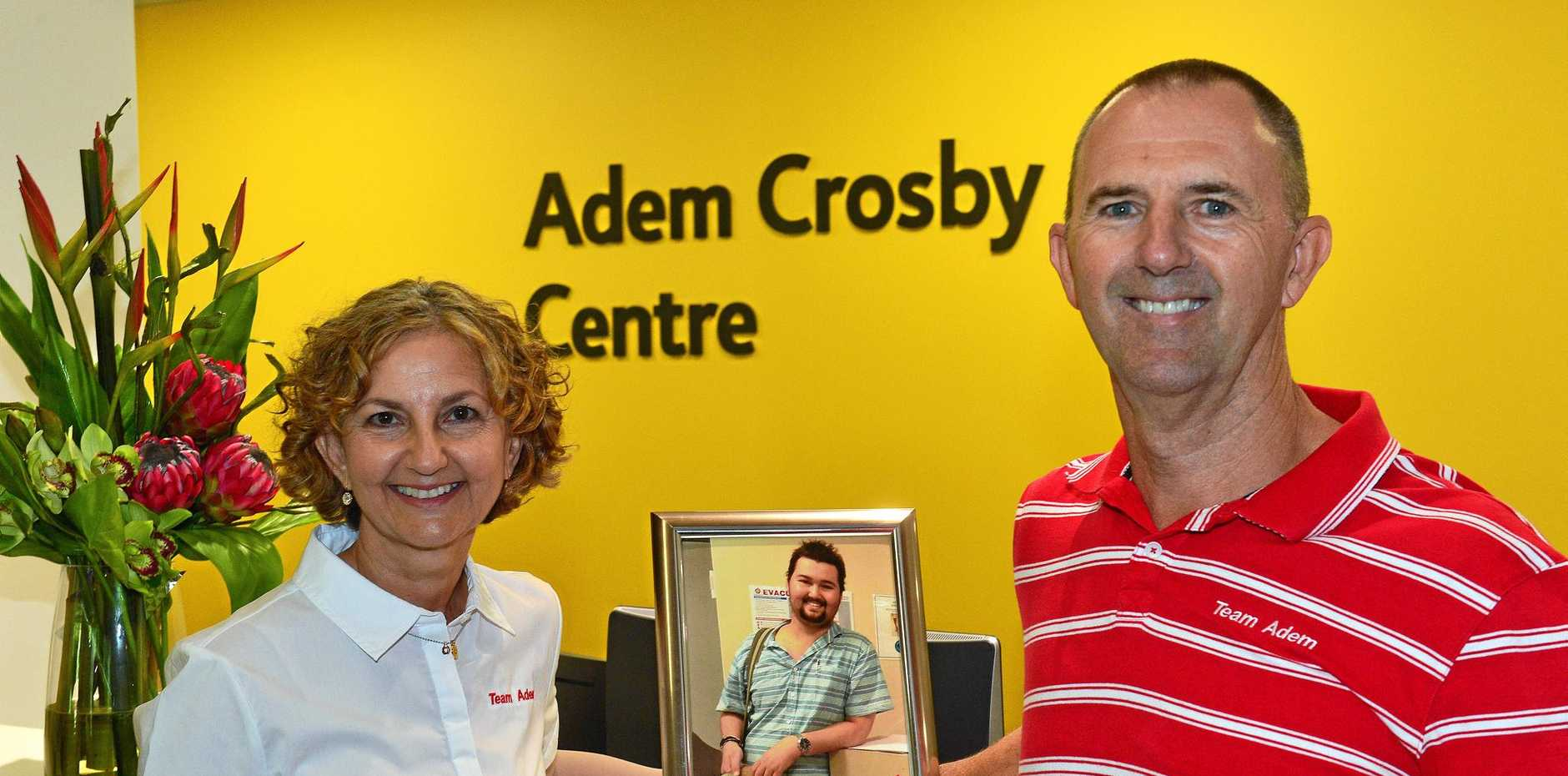 Lu and Brent Crosby at the Adem Crosby Centre.