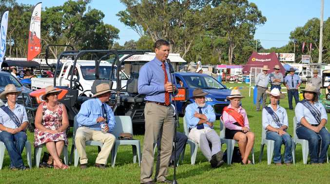 Member for Southern Downs Lawrence Springborg at the grand opening of the JJ Richards and Sons 2017 Stanthorpe Show this year.