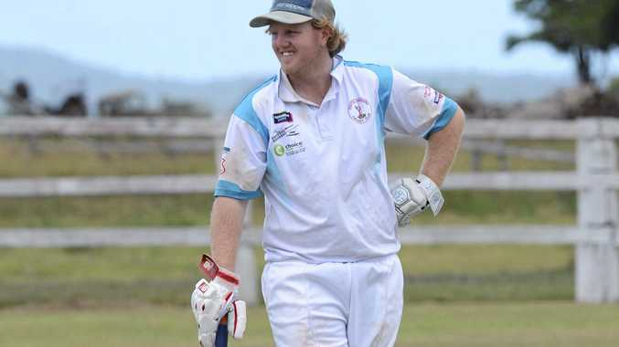 Coutts batsman Luke Cox during the CRCA Premier League cricket match between Coutts Crossing and Tucabia at Small Park, Ulmarra on Saturday, 25th February, 2017.