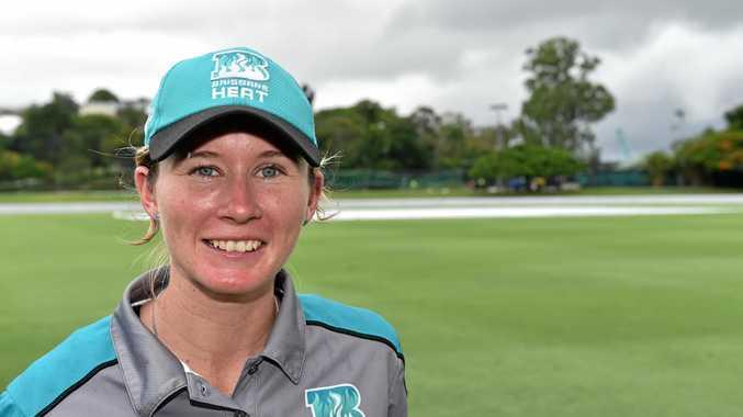 Brisbane Heat opener Beth Mooney, pictured at Allan Border Field, Brisbane, scored her maiden century for the Southern Stars.