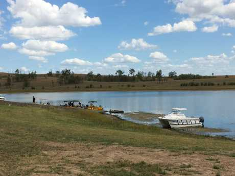A swimmer has reported missing at Lake Wivenhoe.