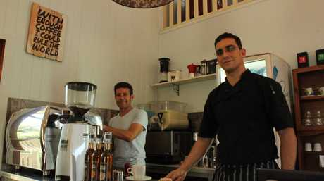 Felice Lubrano and Giusseppe Buttice are joint partners in the Church Cafe.