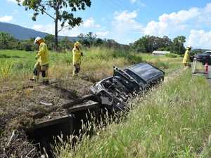 Car crashes into stormwater drain