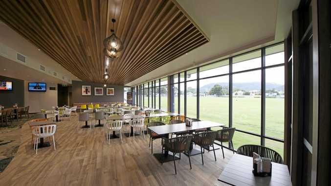 ROOM WITH A VIEW: Frenchville Sports Club dining facilities overlook Ryan Park for all the sporting action.