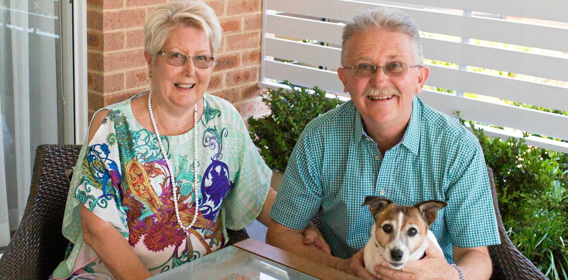 PET FRIENDLY: Glengara Retirement Village residents, Jan and Nick Pearce at their Central Coast villa.