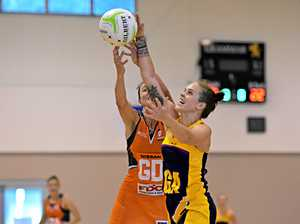 Caboolture's Dominique Scott in action for Sunshine Coast Lightning during the preseason after five years with Suncoast Lynx.
