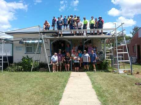 The community threw its support behind Dianne Steel and helped to replace her old, leaky roof.