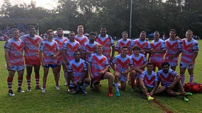 The victorious South Grafton Rebels squad after clinching a dominant victory against Navy Tridents.