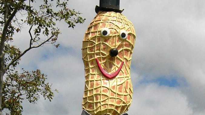 The Big Peanut man in Tolga, Queensland.