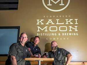 SPIRIT SHINES: The team behind Bundaberg's newest distillery and brewery, Rick Prosser (spirits), Michael Nash (sales/marketing) and Paul Mark (beer/cider).