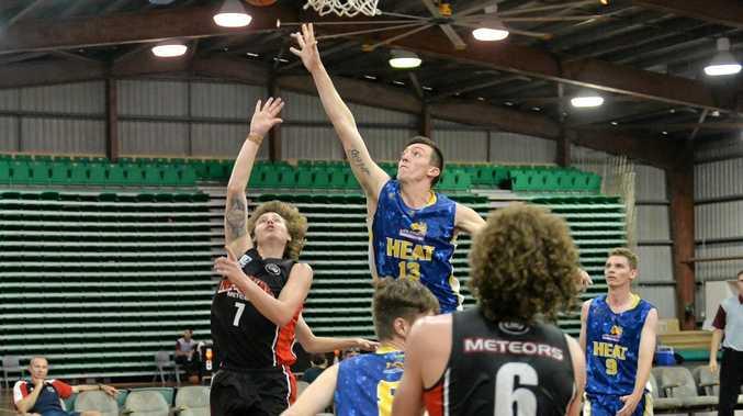 TO THE HOOP: Mackay's Brayden Collins drives to the basket.