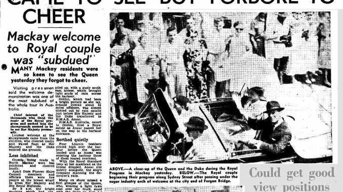 The front page of the Daily Mercury on Tuesday March 16, 1954, after the Queen visited Mackay.
