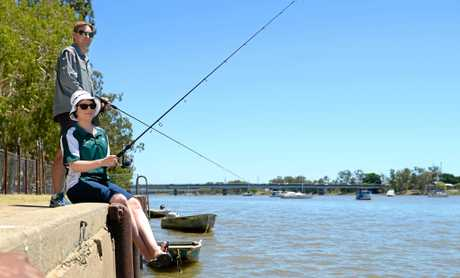 Gregg Chapman and Kim Walters fishing on the Fitzroy River.
