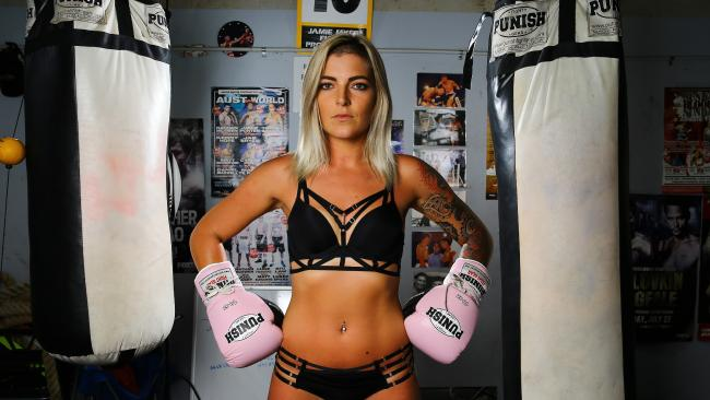 Jess Davis will take to the ring in her lingerie on March 3 as of a professional boxing extravaganza on the Gold Coast. (Pic: David Clark)