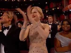 Nicole Kidman's style of clapping has puzzled Oscars viewers.