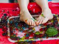 Time to get messy with Playgroup Queensland's National Playgroup Week's signature event at Queens Park in Ipswich!