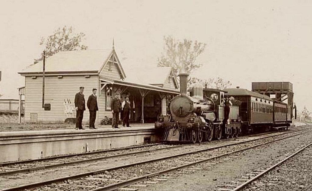 NEW RAILWAY: Casino train station circa 1903 when railway came to town.