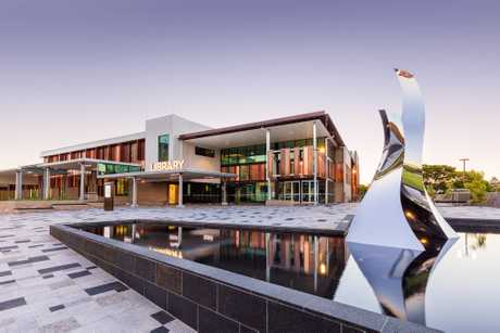 The Toowoomba City Library and Civic Square.