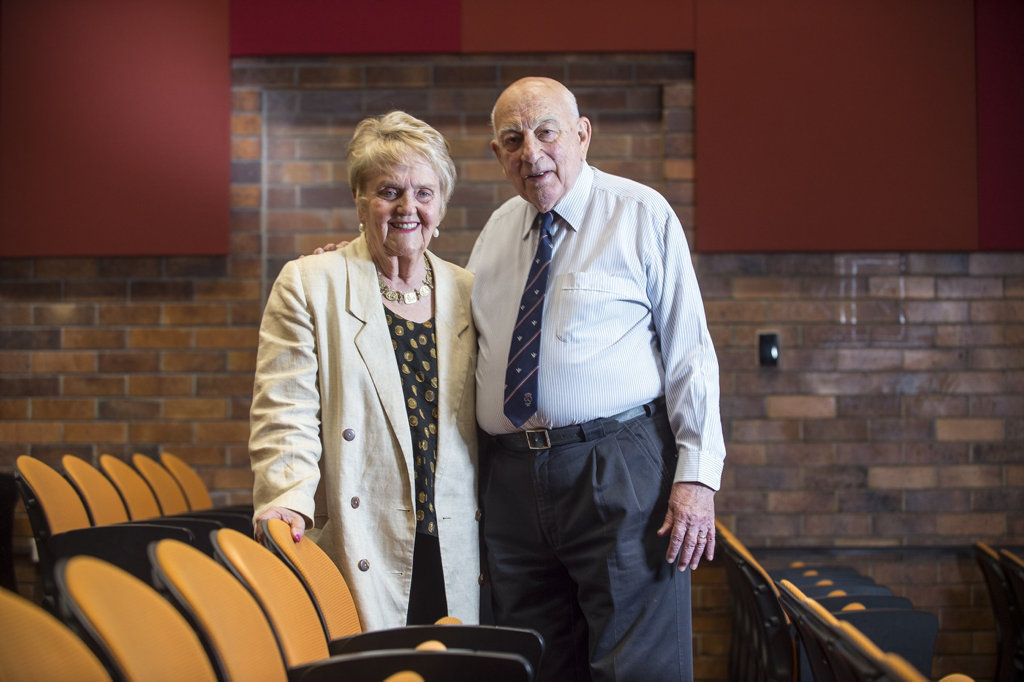 Dr June Henry and Former Head of School Mr Terry Carter (Credit: USQ Photography)