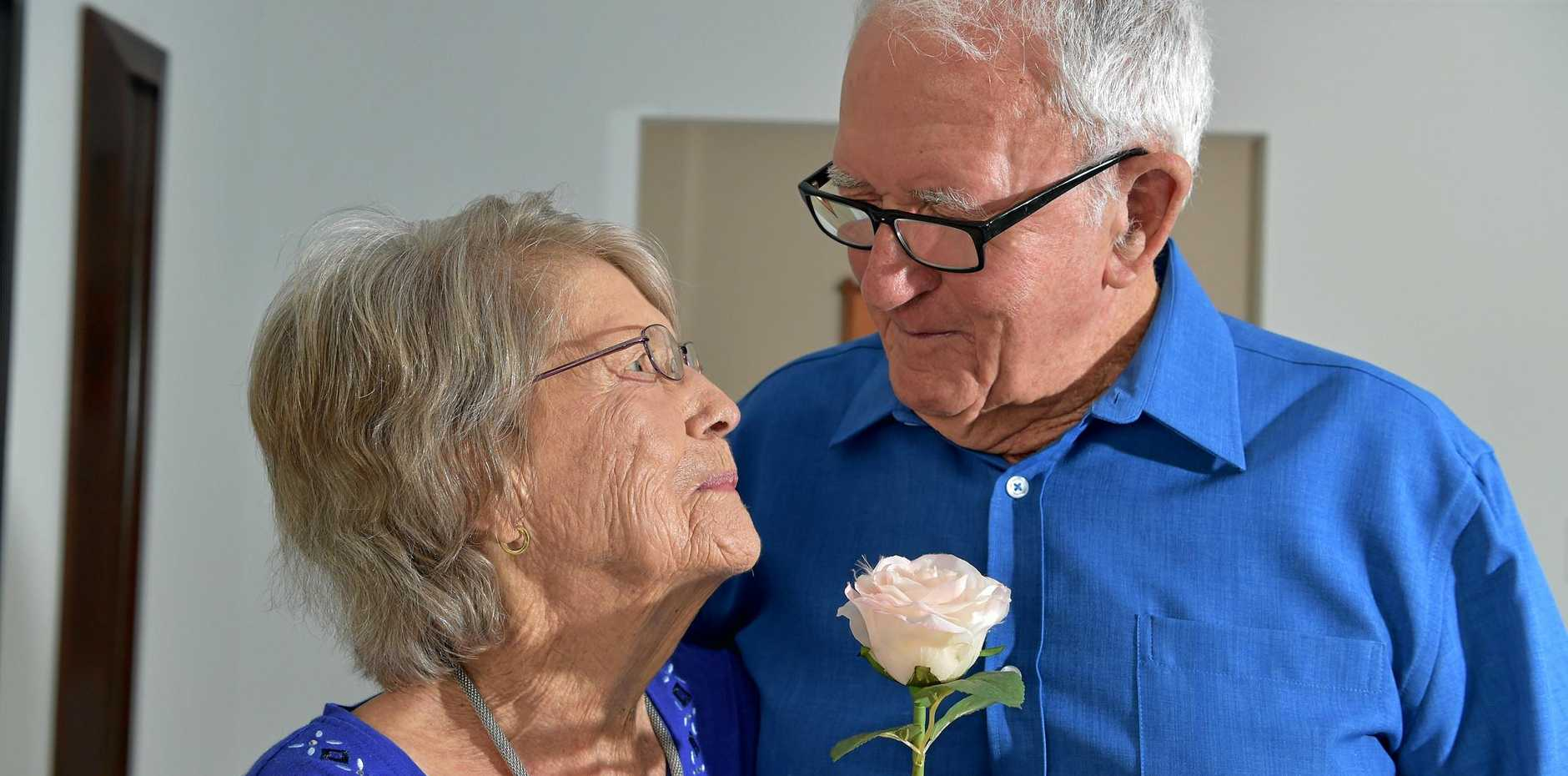 TEST OF TIME: Cliff and Jean Collins, both 91, ar e still as in love as ever.