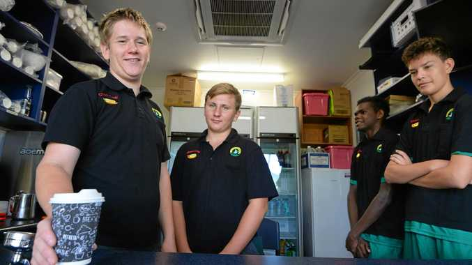 ST BRENDAN'S BARISTAS: Year 12 students Sam Blackmore, Cody Hughes, Eldrick Zingle and Matthew Wanderwolf are working on completing their Certoficate II in Tourism and will soon be qualified baristas.