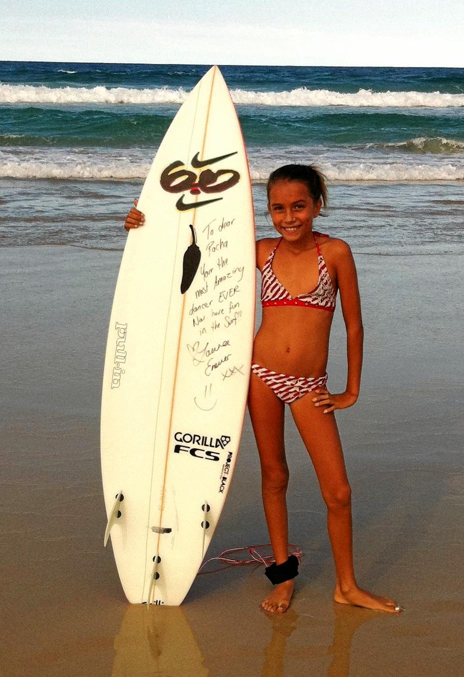 A nine-year-old Pacha Light with that board, donated by Enever.