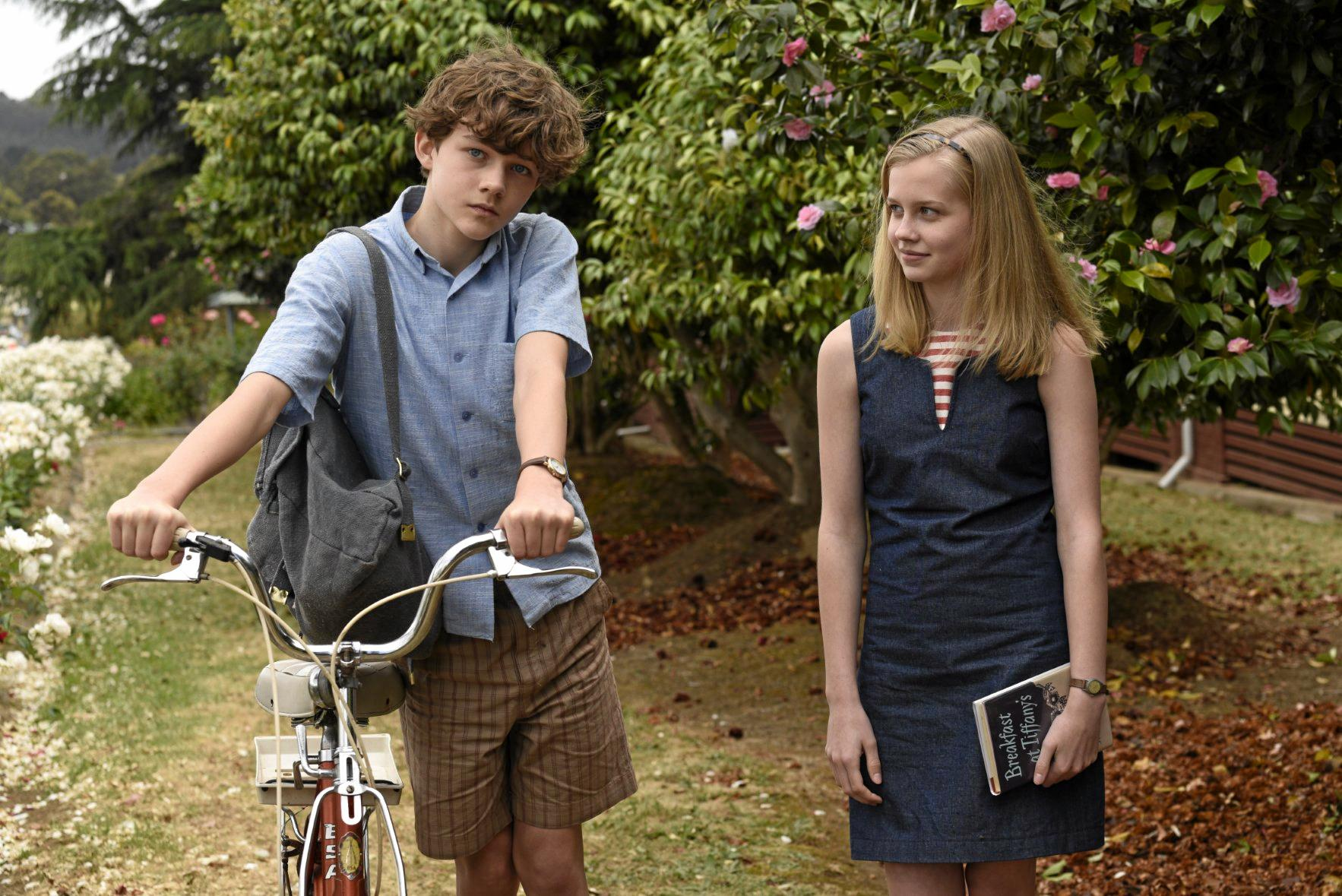 Levi Miller and Angourie Rice in a scene from the movie Jasper Jones.