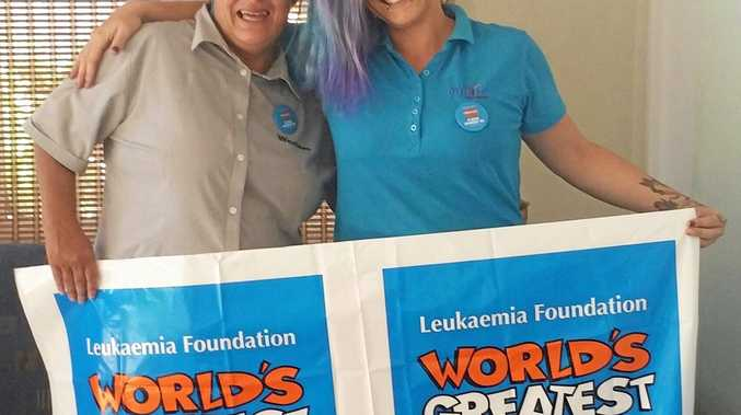 Sarah Dougherty and Virlissa Adams, right, will lose their locks on March 16 to raise money for the Leukaemia Foundation.