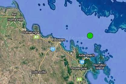 SHAKE: An earthquake was recorded 65km east of Bowen and 44km north of Airlie Beach at 5.55am on Tuesday.