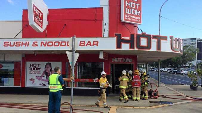 Fire has damaged the Hot Wok in Mackay, forcing it's temporary closure.