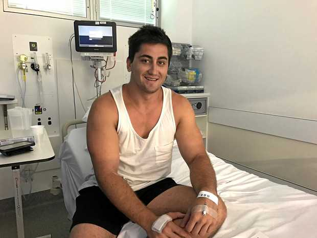 Rhys Wolloghan was airlifted to the Mackay Base Hospital on Monday with suspected head injuries but has since been released.