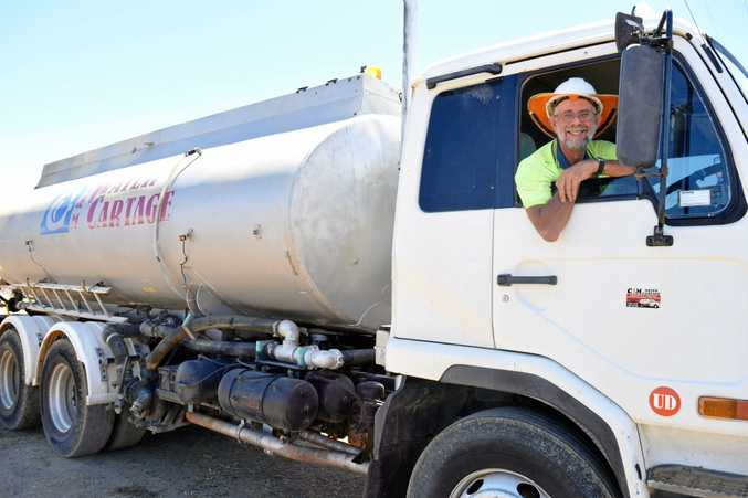 HOT FEBRUARY: C&M Water Cartage proprietor Leslie Cullen says it's been a busy month as farmers do their best to survive the driest February on record.