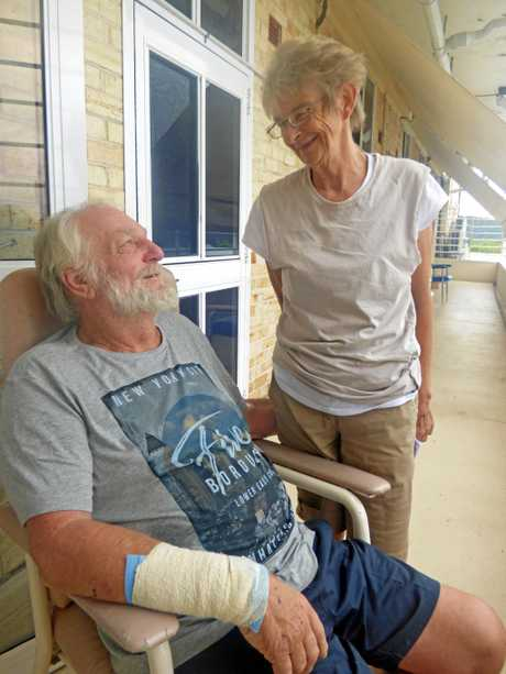 SURVIVORS: Ron and Carol Clark are recovering after their boat was shipwrecked off Lover's Point at Yamba.